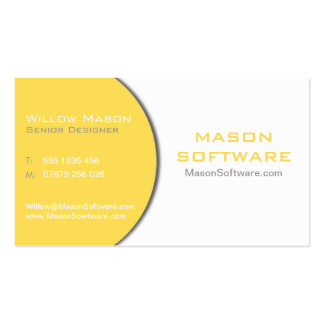 White & Yellow Technology Business Card