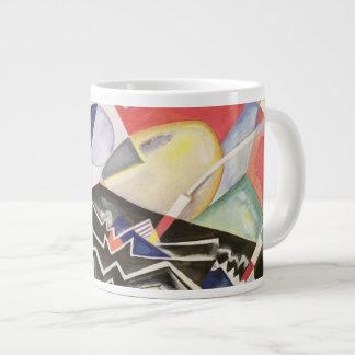 White Zig-Zags, 1922 Large Coffee Mug