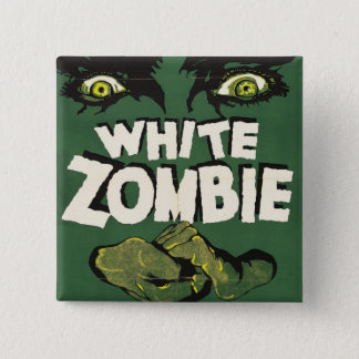 White Zombie Vintage Film Poster 15 Cm Square Badge