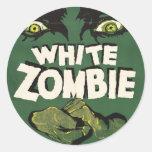 White Zombie Vintage Film Poster Round Sticker