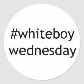#whiteboywednesday Sticker