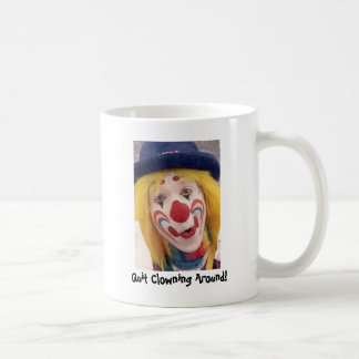 whiteface Quit Clowning Around Coffee Mug