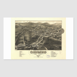 Whitefield, Coos County, New Hampshire (1883) Rectangular Sticker