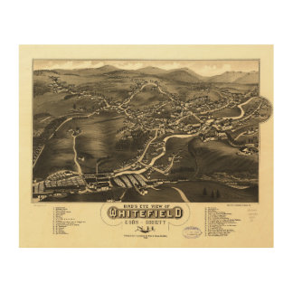 Whitefield, Coos County, New Hampshire (1883) Wood Prints
