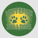 Whitefish Bulldogs Tackle & Twill Sticker