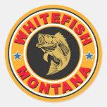 Whitefish Gold Circle Round Stickers