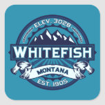 Whitefish Ice Square Stickers
