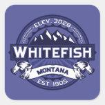 Whitefish Midnight Square Sticker