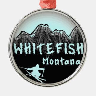 Whitefish Montana artistic skier Christmas Ornament