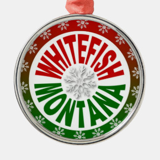 Whitefish Montana red green holiday ornament