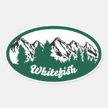 Whitefish Mountain Oval Sticker