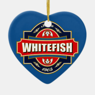 Whitefish Old Label Christmas Ornament