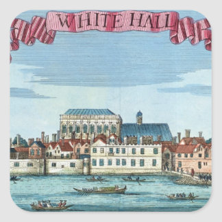 Whitehall from 'A Book of the Prospects Square Sticker