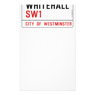 Whitehall London Street Sign Stationery