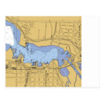 Whitehall, MI Nautical Harbour Chart Post Card