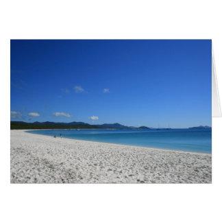 Whitehaven Beach, Queensland, Australia - Card