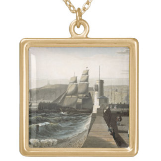 Whitehaven, Cumberland, from 'A Voyage Around Grea Gold Plated Necklace