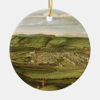 Whitehaven, Cumbria, Showing Flatt Hall, c.1730-35 Round Ceramic Decoration