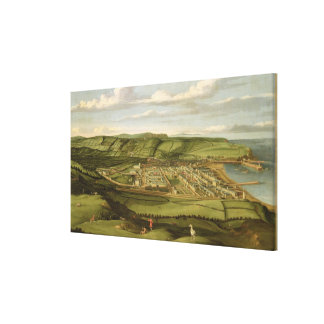 Whitehaven, Cumbria, Showing Flatt Hall, c.1730-35 Stretched Canvas Print