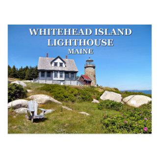 Whitehead Island Lighthouse, Maine Postcard
