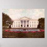 Whitehouse, Washington, DC 1908 Poster