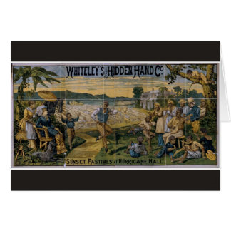 Whiteley's Hidden Hand Co., 'Sunset Pastimes' Greeting Card