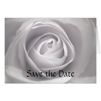 Whiteness, Save the Date Greeting Card