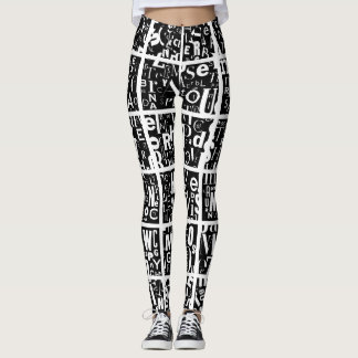 whites & blacks leggings