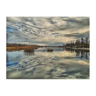 Whiteshell Autumn Reflection Wood Panel