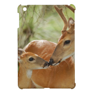 Whitetail Buck And Fawn Bonding iPad Mini Cases
