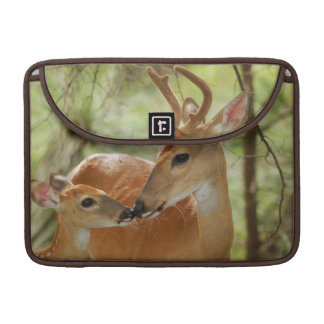 Whitetail Buck And Fawn Bonding Sleeve For MacBooks