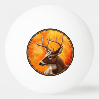 Whitetail Deer Buck Hunting Ping Pong Ball