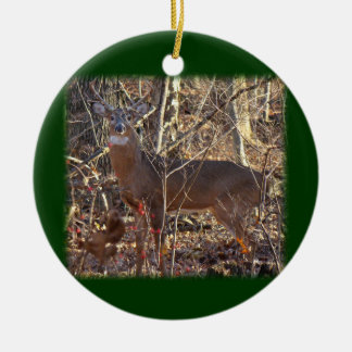 Whitetail Deer Buck Ornament to Personalize
