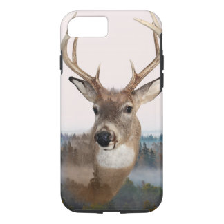 Whitetail Deer Double Exposure Phone Case