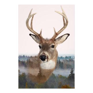 Whitetail Deer Double Exposure Photo Print