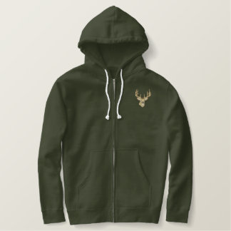 Whitetail Deer Embroidered Hoodie
