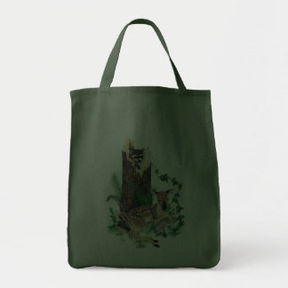 Whitetail Deer Fawn and Raccoon Tote Bag 2