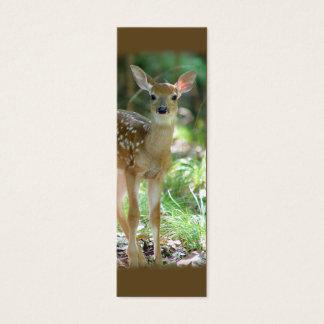 Whitetail Deer Fawn Mini Bookmark / Mini Business Card