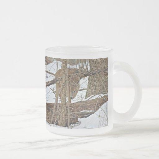 Whitetail Deer In Snow Coffee Mug