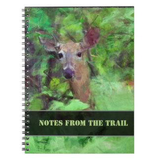 Whitetail Deer in Woods Painting Notebooks
