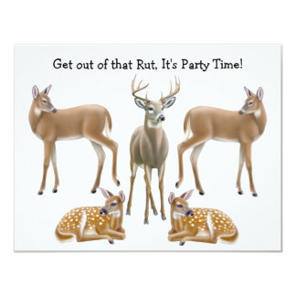 Whitetail Deer Invitation