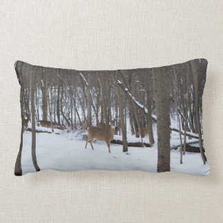 "Whitetail Deer, Lumbar Pillow 13"" x 21"""