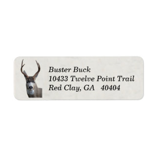 Whitetail Deer Return Labels