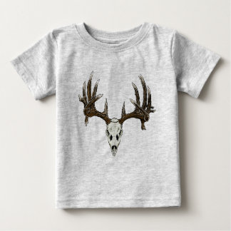 Whitetail deer skull 1 baby T-Shirt