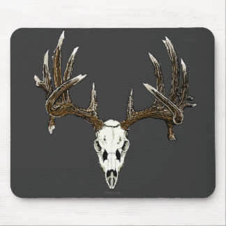 Whitetail deer skull 1 mouse mat