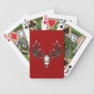 Whitetail deer skull 5 bicycle playing cards