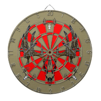 Whitetail deer skull vintage 2 dartboard