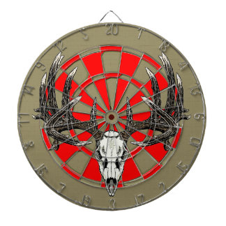 Whitetail deer skull vintage dartboard