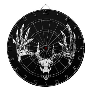 Whitetail deer skull w dartboard