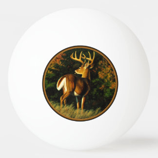Whitetail Deer Trophy Buck Hunting Ping Pong Ball